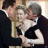 RENE ZELLWEGER, ARNOLD Schwarzenegger  & RICHARD GERE Odd Photo:)