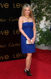 Hilary Duff shows cleavage in blue strapless dress at Cartier's Third Annual Loveday Celebration and Cartier Love Charity Bracelet launch